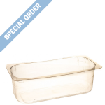 4.75L Flat Rim Napoli Tray - Clear - SPECIAL ORDER ONLY